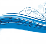 Blue musical banner